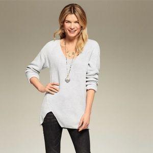 CAbi #3531 Deep V Asymmetrical Sweater   M